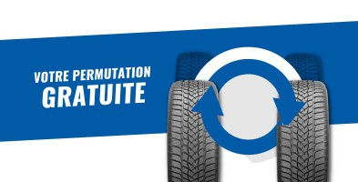 Rotation gratuite à l'achat de 4 pneus neufs