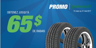 Jusqu'à 65$ de rabais à l'achat de 4 pneus Continental